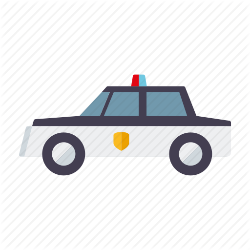 Car, Crime, Justice, Law, Police, Police Car, Vehicle Icon