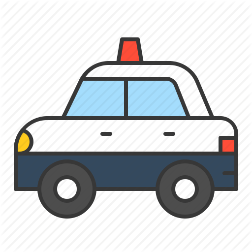 Car, Police Car, Traffic, Transport, Vehicle Icon
