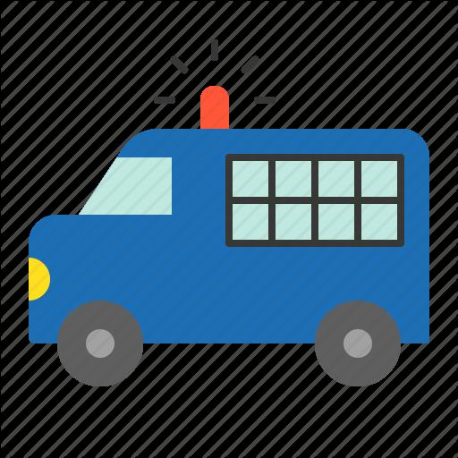 Police, Police Car, Prisoner Transport Vehicle, Vehicle Icon