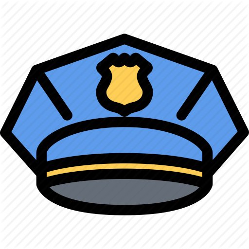 Cap, Court, Crime, Law, Lawyer, Police Icon
