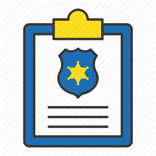 Cop, File, Police Report, Policeman, Report Icon