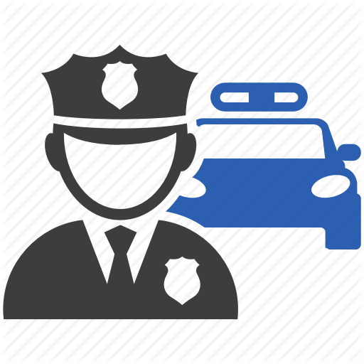 Car, Department, Police, Security Icon
