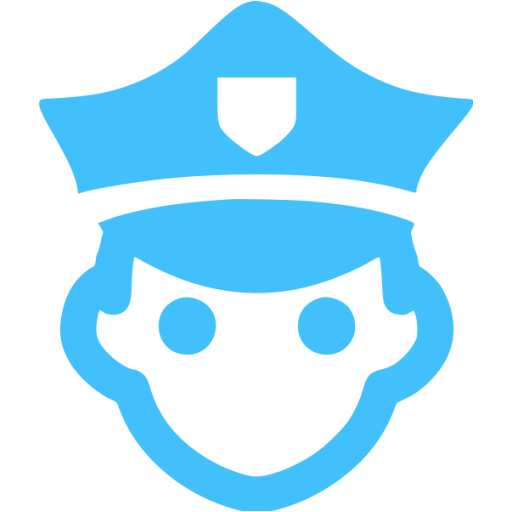 Caribbean Blue Police Icon