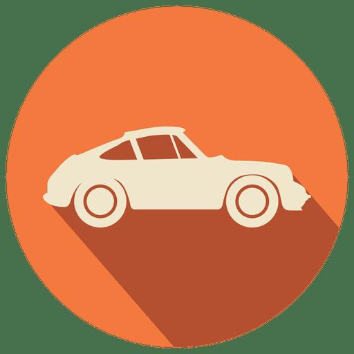 Flat Vintage Car Icon