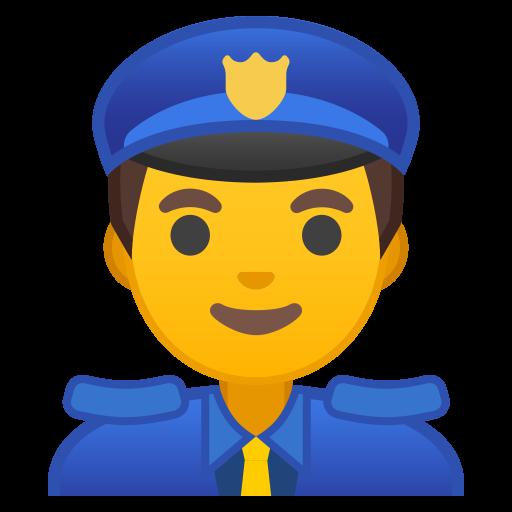 Man Police Officer Icon Noto Emoji People Profession Iconset