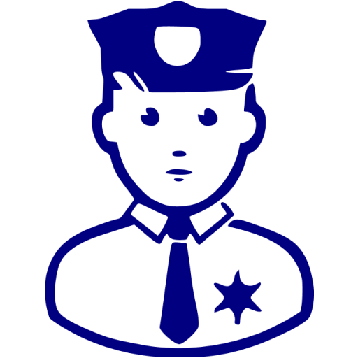 Navy Blue Police Icon