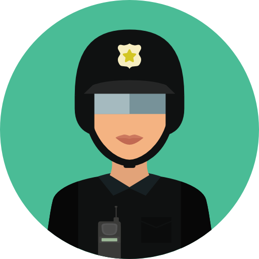 User, Avatar, Job, Profession, Occupation, Security, Police Icon