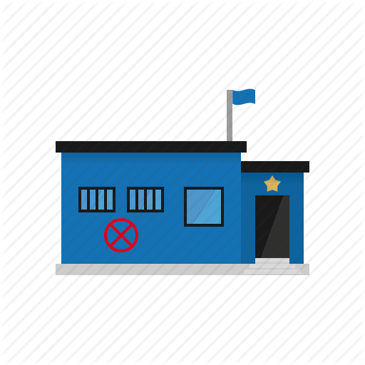 Building, Jail, Office, Police, Sheriff, Small Town, Station Icon