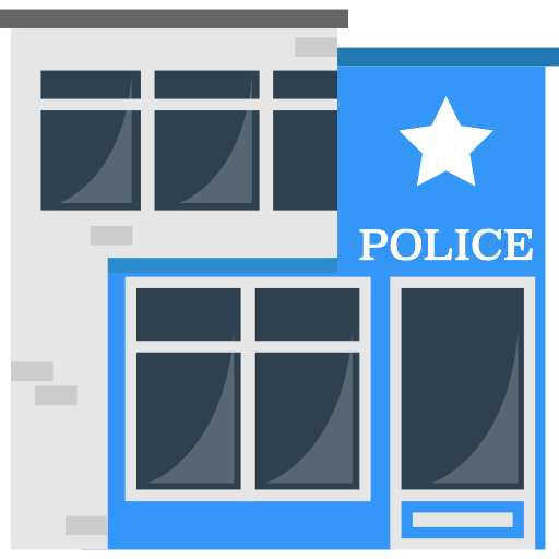 Police Station, Prison, Buildings, Jail, Police Icon