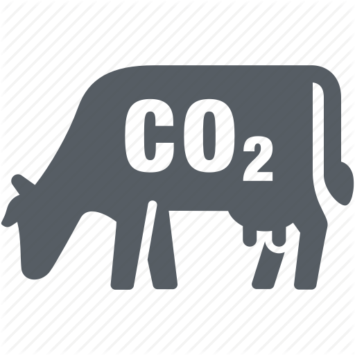 Climate, Cow, Emission, Environment, Pollution Icon