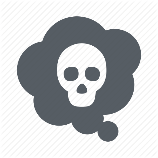 Cloud, Environment, Pollution, Skull, Toxic Icon