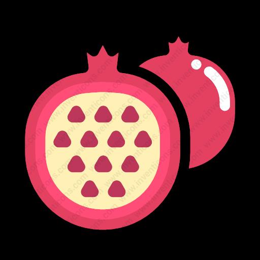 Download Half,pomegranate Icon Inventicons