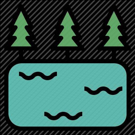 Crator, Lagoon, Lake, Oxbow, Pond Icon