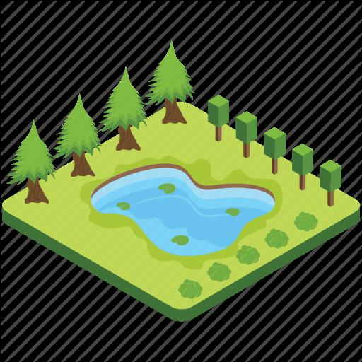 Lake, Pond, Pool, Puddle, River Icon