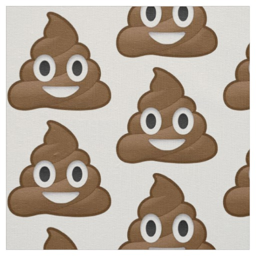 Poop Emoji Fabric Zazzle Ca