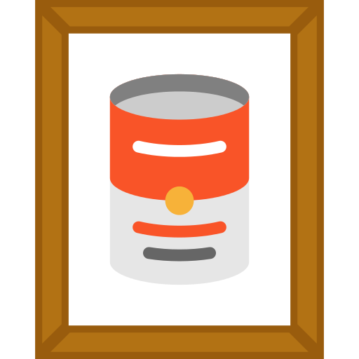 Pop Art Painting Png Icon