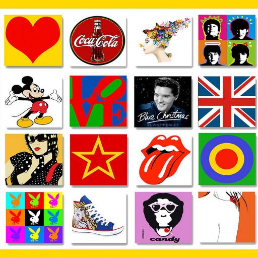 Pop Art Singer Music Band Uk Flag Mouse Icon Pillow Star Cushion