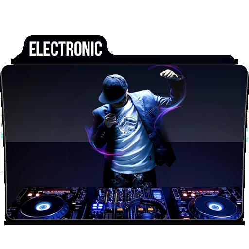 Electronic Icon Music Folder Iconset Limav