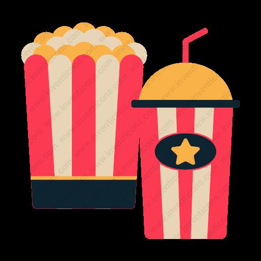 Download Popcorn,drink Icon Inventicons