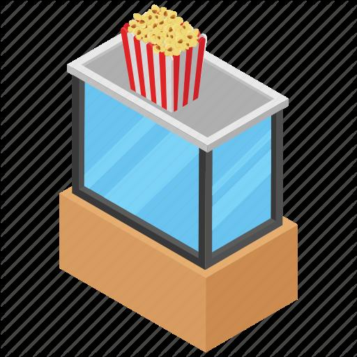 Corn Kernels, Junk Food, Popcorn, Snacks, Zea Mays Everta Icon