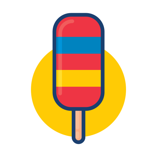 Colorful, Dessert Food, Ice Cream, Popsicle Icon