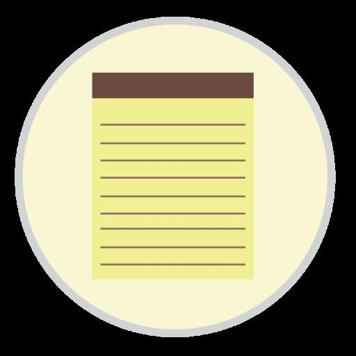 Notes Icon Mac Stock Apps Iconset Hamza Saleem