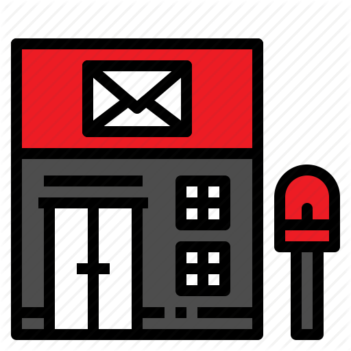 Building, Letter, Mail, Office, Post Icon
