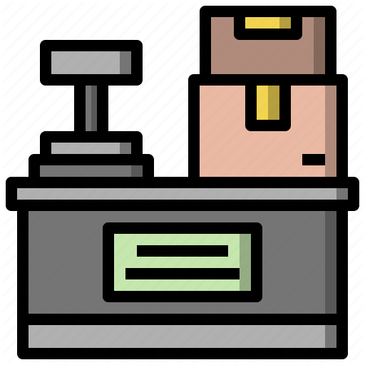 Counter, Mail, Office, Package, Post, Postal, Worker Icon