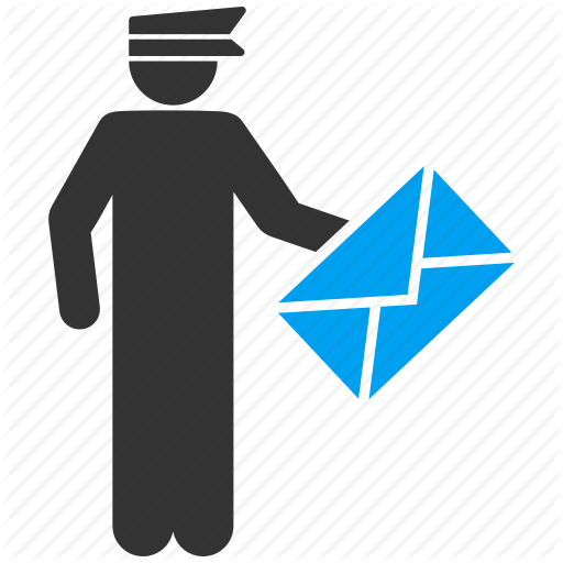 Courier, Delivery, Letter, Mail, Message, Postal, Postman Icon