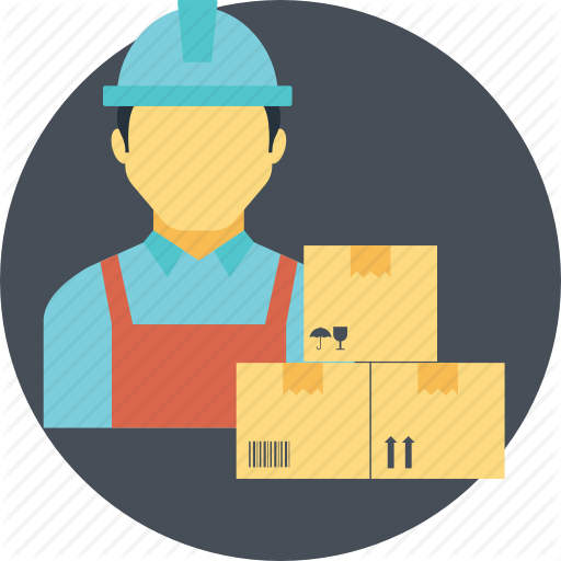 Courier Man, Delivery Service, Loader Man, Mail Service, Postman Icon
