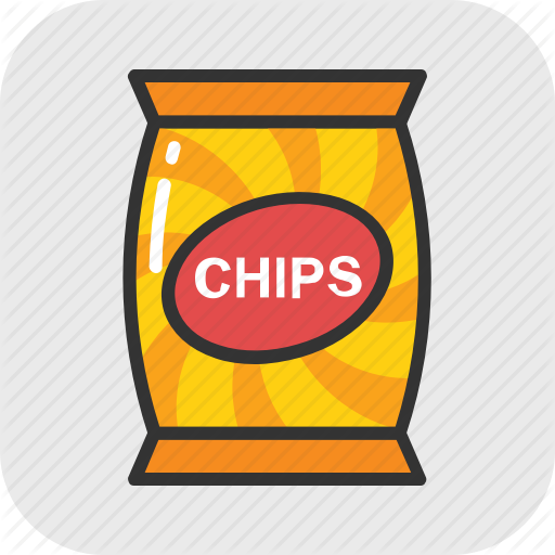 Chips, Chips Pack, Crisps, Potato Chips, Snack Icon