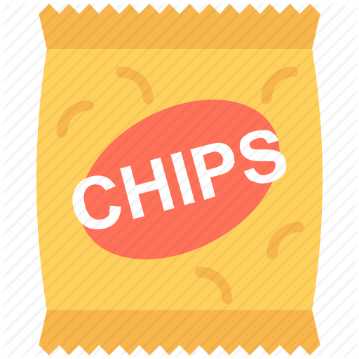 Chips Pack, Food, Potato Chips, Potato Crisps, Snacks Pack Icon