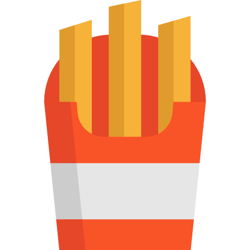 French Fries, Snack, Fast Food, Fries Icon