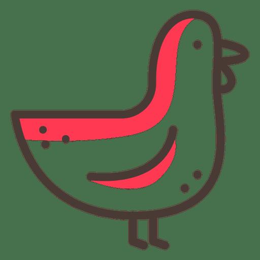 Chicken Cartoon Circle Icon