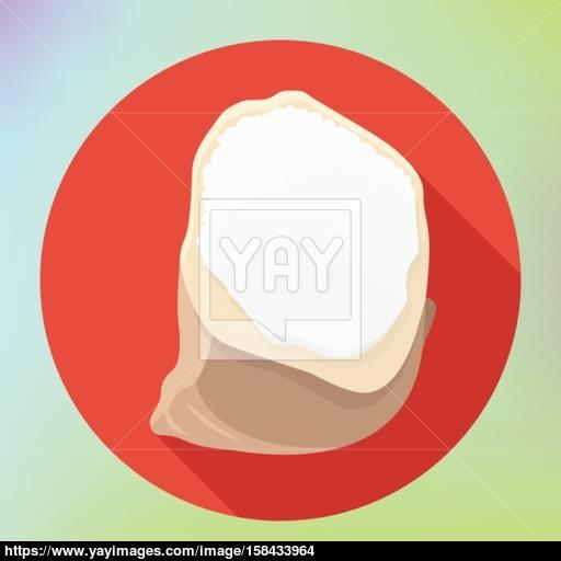 Flour Powder Sack Bag Icon Vector