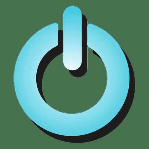Gradient Power Button Icon