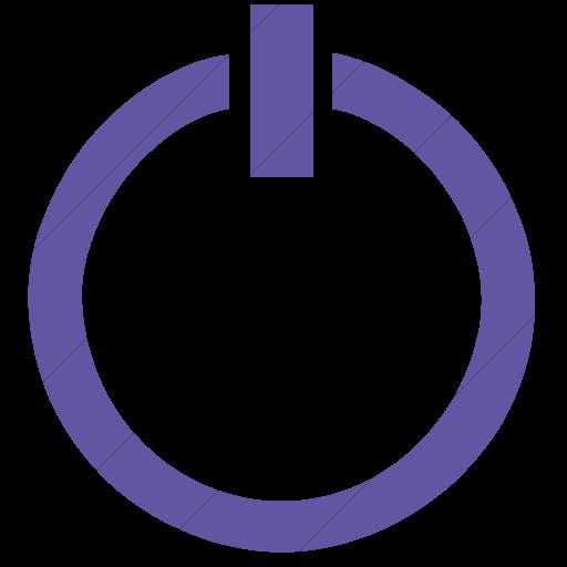 Simple Purple Classica Power Button Icon