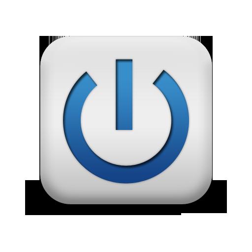 Blue Power Button Symbol Icon