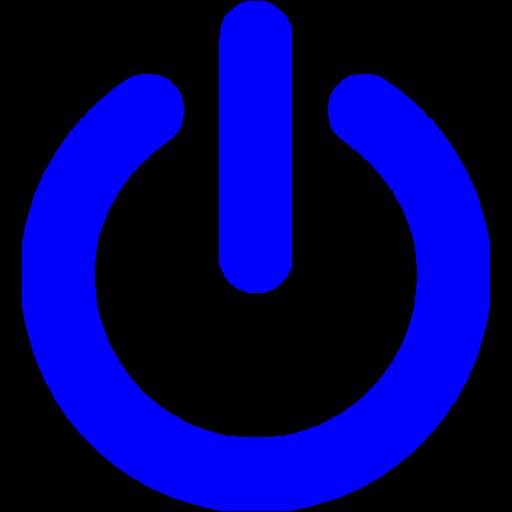 Blue Power Icon