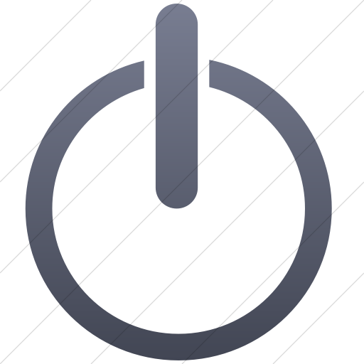 Simple Blue Gray Gradient Classica Power On Off Icon