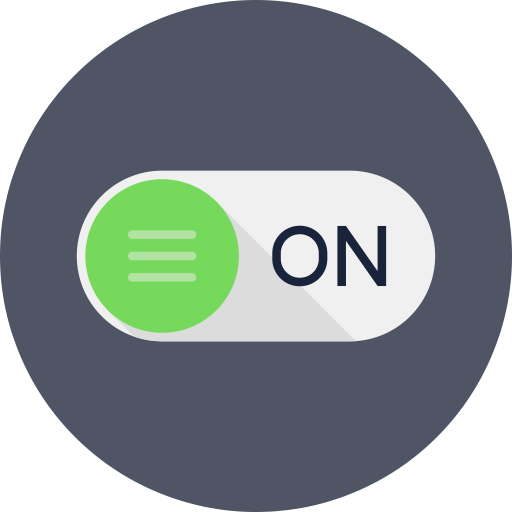 Rounded, Switch, Power On Icon Free Of Round Varieties