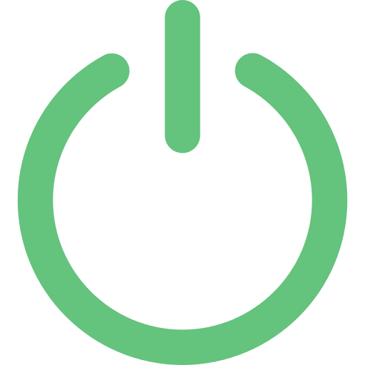 Green Power Button Transparent Png Clipart Free Download