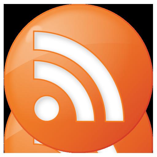 Social Rss Button Orange Icon