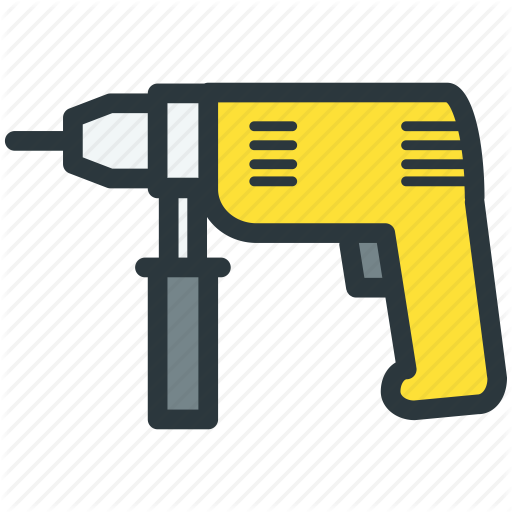 Drill, Drilling, Power Tools, Repair Icon