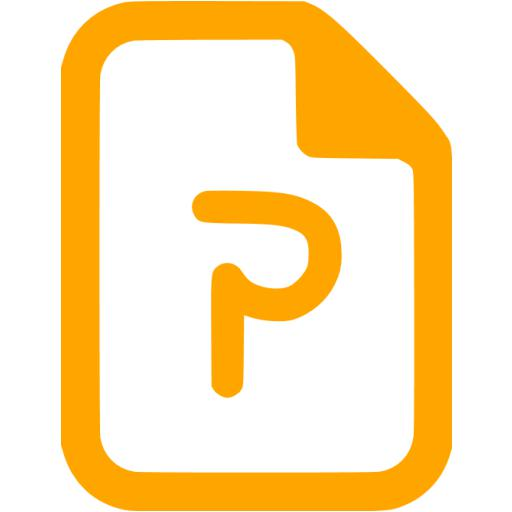 Orange Powerpoint Icon