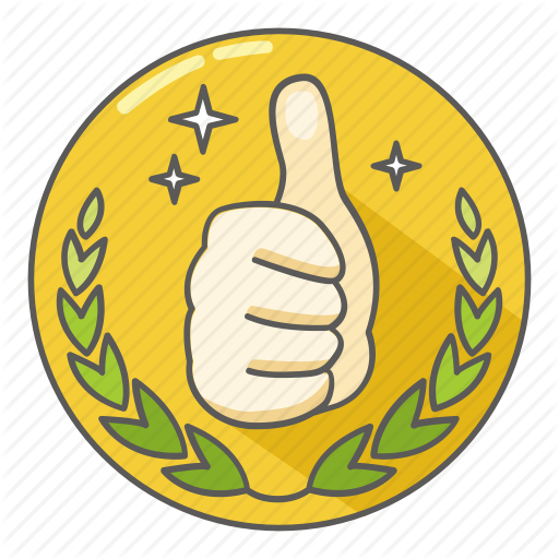Award, Awesome, Excellent, Great, Praise, St Thumbs Up Icon