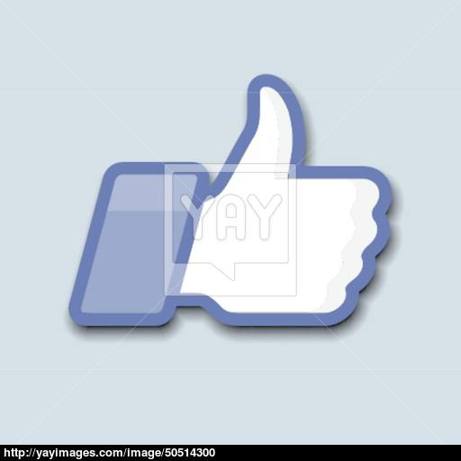 Likethumbs Up Symbol Icon On A Grey Background Vector