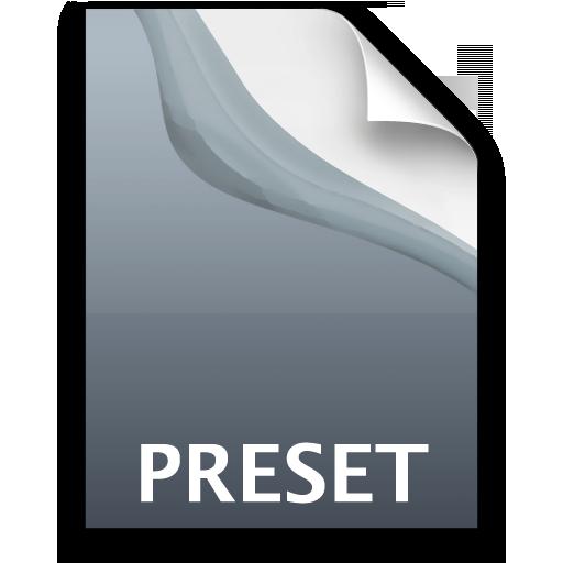 Adobe Photoshop Lightroom Preset Icon