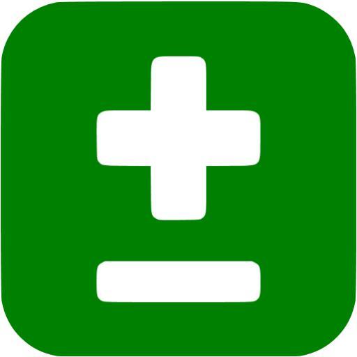 Green Plus Minus Icon