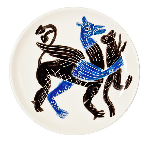 Blue Griffin With Prey Fruit Plate